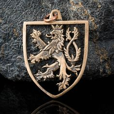 Medieval Two Tailed LION Bronze Pendant Coat of Arms of Bohemia Czech Republic Prague Ceska Republika Necklace Charm Jewelry Jewellery Crest Czech Tattoo, Historical Women, Historical Photos, Mens Silver Jewelry, Asian History, British History, Strange History, History Facts, Coin Art