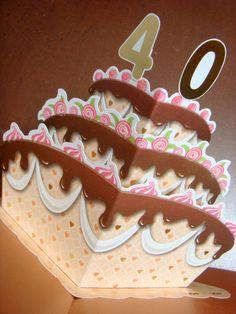 3 tier pop up birthday cake card