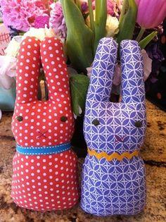 conejos faciles de tale rellenos Conejos de tela muy fáciles de hacer