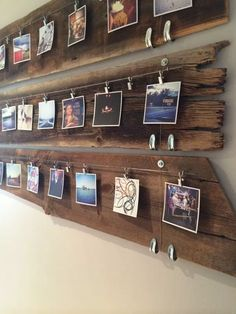 📌 71 Most Popular Top Ideas for Beautiful Wall Decor DIY - Gucci-Handbags.us #wall #walldecor #walldecoration Casa Retro, Rustic Pictures, Family Pictures, Display Family Photos, Wall Decor Pictures, Rustic Picture Frames, Hanging Picture Frames, Rustic Frames, Picture Wall