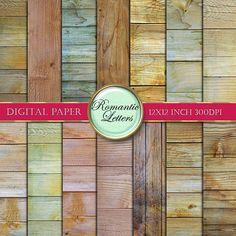 Digital paper pack wood texture digital scrapbook wood