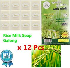 Happylife 12 Pcs Rice Milk Soap 60 G JasmineBody Bath Clean Whitening Skin Care Thai herb -- Read more  at the image link. (This is an Amazon affiliate link and I receive a commission for the sales and I receive a commission for the sales)