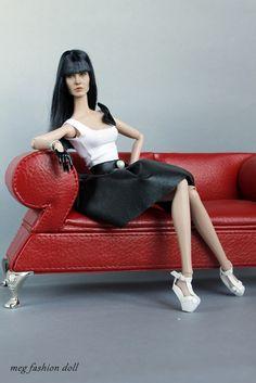 https://flic.kr/p/oC39dC | Angelina Jolie | My hybrid head Kumik Angelina Jolie movie 'Salt' Body Poppy Parker my clothes Shoes Dagamoart