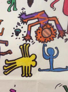 Laboratorio Keith Haring in IVB, Scuola Giovanni XXII -Trieste Maestra Rita Giannone