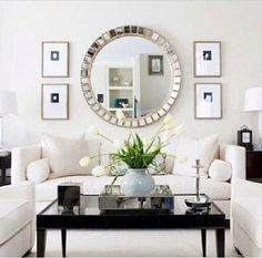 Love the large mirror for over your fireplace - hey . . . there is a lovely one at KLOM ;-)