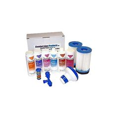 The Combo Care Pack includes everything you need to get started with your new spa. All the chemicals you need to keep your spa sparkling clean come to you in one box. The pack also includes 2 filters, a drain/fill kit, and a floating bromine dispenser. Hot Tub Accessories, Shock Treatment, Hot Tub Cover, Care Pack, Sparkling Clean, Spa Massage, Total Body, Beauty Skin, Filters