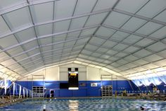 Aquatic center using tension fabric structure technology. Fabric Structure Blog