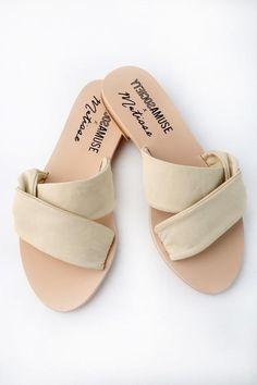 Lulus Capri Ivory Leather Slide Sandal Heels - Lulus NaPWS2Kna3