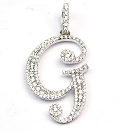 """DIAMOND LETTER """"G"""" PENDANT IS 30.4 BY 20MM"""