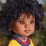 Hearts for Hearts Dolls. Diverse dolls who each come with a story. A dollar from each purchase gets donated to the region the dolls are inspired by (sold at Target)