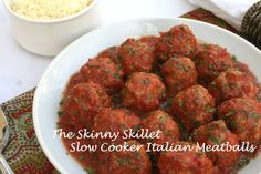 Crockpot Italian Meatballs - low carbs & calories (also works great as a meat sauce with 1 extra cup marinara)