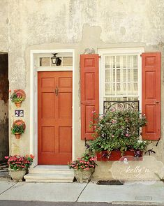 Love the color combo for the door & shutters. | For the Home ...