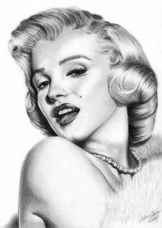 """ Marilyn Monroe "" - A4, Pencil...."