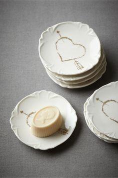 Pierced Heart Truffle Plate (8) from BHLDN
