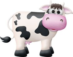"""Photo from album """"oinka doodle moo"""" on Yandex. Cow Pictures, Clip Art Pictures, Cow Png, Bull Tattoos, Cow Pattern, Cute Cows, Cartoon Pics, Baby Prints, Colors"""