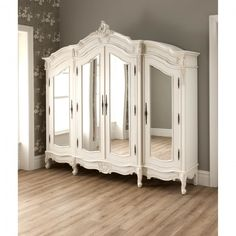 Furniture. Astounding Shabby Chic Furniture Featuring White Painted Rochelle French Wardrobe With Mirror And Decorative Frames Also Claw Foot Design As Marvelous Antique Wardrobe For Your Home Shabby Chic Furniture Ideas. 19 Vintage Shabby Chic Furniture Design For Classic Home Interior Ideas