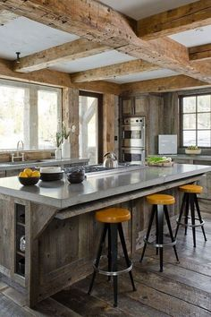Rustic Kitchens Images gorgeous use of wood. kitchen photos small kitchens design