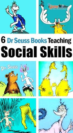 Dr Seuss Books Teaching Kids Social Skills Dr Seuss Books Teaching Kids Social Skills,Emotional Intelligence for Kids Dr.Seuss Books teaching kids social skills, such as sympathy, standing up for self, accepting and believing oneself. Social Skills Lessons, Social Skills For Kids, Teaching Social Skills, Coping Skills, Teaching Kids, Life Skills, Social Skills Games, Skills List, Social Skills Autism