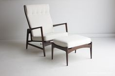 Kofod Larsen Loung Chair and Ottoman for Selig