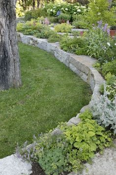 Really like this one!! Retaining wall beds