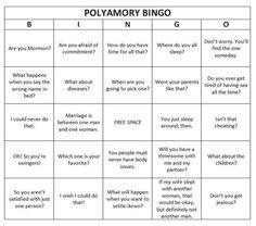 polyamory bingo card the annoyance we face