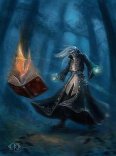 Dark Elf The Warlock by IcedWingsArt.deviantart.com on @deviantART