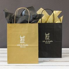 Give guests something to remember with these personalized wedding gift bags