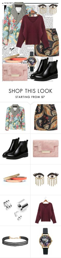 """""""A New Rule"""" by black-wings ❤ liked on Polyvore featuring Nicki Minaj, Moschino, Dsquared2, WithChic, Voz Collective, Sydney Evan, Humble Chic and Olivia Burton"""