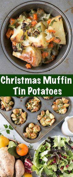 Muffin Tin Christmas Potatoes – My Kitchen Love Delicious Christmas Potatoes that taste like the holidays! Perfectly sized Muffin Tin Crispy Potatoes is a dreamy side to go with any roast. Healthy Potatoes, Crispy Potatoes, Christmas Potatoes, Holiday Recipes, Dinner Recipes, Christmas Recipes, Christmas Cooking, Brunch Recipes, Fall Recipes