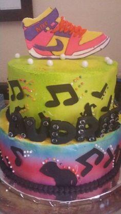 Dance/music theme birthday cake