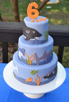 I created this cake for my son's 6th birthday.  For a number of years, Jack has loved sea creatures and anything to do with the ocean and I knew that this would be the perfect cake for him.  I aske...
