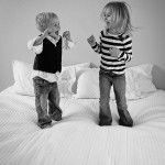 Kids jumping on the bed!
