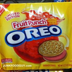We Tasted The New Fruit Punch Oreos So You Dont Have To - We're not sure why, but the good people at Nabisco decided to make Fruit Punch Oreos. Just like last summer's Watermelon flavored Oreos debacle, they're only available at Walmart,