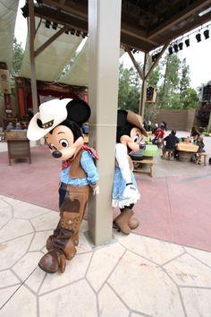 Mickey & Minnie having a little fun at the Big Thunder Ranch Jamboree.