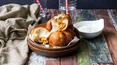 Cheesy Buffalo Chicken Bombs: Love wings, but hate the mess? The cheesy buffalo chicken bomb is a finger-lickin' good snack that won't leave game day guests searching for wet naps. Buffalo Chicken, Buffalo Recipe, Best Appetizers, Appetizer Recipes, Snack Recipes, Cooking Recipes, Party Appetizers, Party Snacks, Chicken