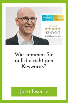 Keywords sind der Motor von Webseiten, die gut bei Google abschneiden Starke Keywords sind Wörter oder Wortkombinationen, die Leute bei ihrer Suchanfrage bei Google benutzen, wenn sie nach (Informationen zu) Ihren Produkten oder Diensten suchen. Mit dem Keywords-Planer von Google Ads entdecken Sie, welche Keywords wichtig für Sie sind und wie viele Leute durchschnittlich pro Monat über Google danach suchen. Das sind also alles mögliche Kunden Ihres Unternehmens. Noch einmal zur Auffrischung…