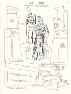 Vintage 1940s pattern drafting booklet Haslam by glassoffashion