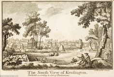 Kensington, now an upmarket district of west London popular with foreign oligarchs, is shown with farms and cattle in a field. Nowadays trendy bars and luxury apartments dominate the landscape, while it is also a very popular destination for shoppers due to its boutique offerings