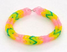 Fluttershy Inspired Friendship Bracelet, My Little Pony Rainbow Loom Stretchy Bracelet, My Little Pony,  Fluttershy Pony, Brony Fans