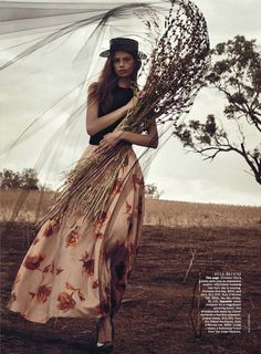 "Cassi van den Dungen in ""The Sweetest Thing"" by Will Davidson for Vogue Australia April 2013"