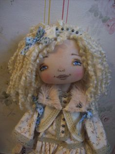 Bianca Textile Doll Handmade Doll Art Doll by TrixiCreation