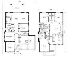 Double Storey House Plans house plans for double storey homes Glenleigh39 Floorplanjpg 12001006 Floor Planshouse Plans