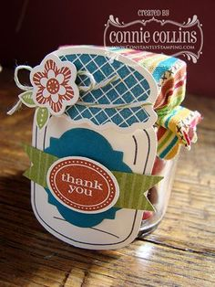 Stampin' Up! Treat Holder  by Connie Collins at Constantly Stamping: Perfectly Preserved Treat Jars