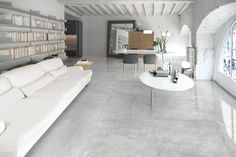View all stone tiles and flooring available at Mandarin Stone including marble, limestone, slate, travertine & more. Modern Flooring, Grey Flooring, Stone Flooring, Marble Floor Kitchen, Laminate Flooring In Kitchen, Grey Floor Tiles, Living Room Flooring, Living Room Grey, Environment