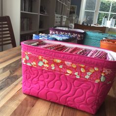 Tutorial on making fabric baskets.