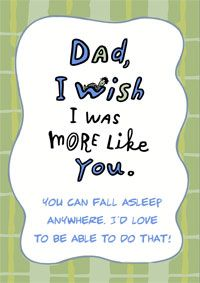 Fathers Birthday Card Funny Dad Cards Diy Gifts For Daughter
