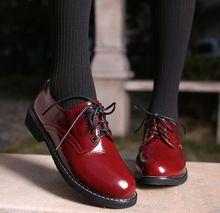 [ Miss de C ] 2015 da queda do outono Lace Up mulheres sapatos Oxford do Vintage dedo do pé redondo mulheres Flats Ankle Boots inglaterra estilo do navio da gota WFS6(China (Mainland))