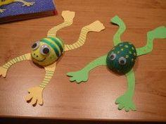 Plastic egg frogs