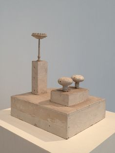Cy Twombly sculptures at AIC