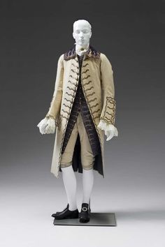 Gentleman's Court Suit circa 1760s  (, - present)  Place object was created: Great Britain  velvet, silk, wool (textile) Museum Purchase: Auxiliary Costume Fund and Exchange Funds from the Gift of Harry and Mary Dalton 2003.123.4A-C
